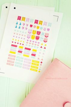 FREE printable planner stickers and cut file