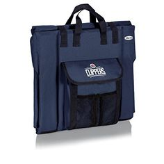 """NBA Los Angeles Clippers Portable Stadium Seat, Navy by Picnic Time. NBA Los Angeles Clippers Portable Stadium Seat, Navy. 17"""" x 15"""" x 4.5""""."""