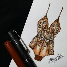 Megan Hess Illustration, Lingerie Illustration, Fashion Illustration Sketches, Fashion Sketches, Illustrations, Fashion Design Portfolio, Fashion Design Drawings, Drawing Fashion, Fashion Art