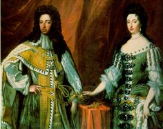 King William III (Reign 1689 to and Queen Mary II Stuart (Reign 1689 to . They ruled England jointly and equally. They had no heirs, so their successor was Mary's sister, Anne. King William, William And Mary, Uk History, British History, Family History, American History, Adele, Queen Mary Ii, House Of Stuart