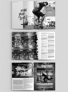 Dogway Skateboard Magazine — Redesign on Behance Editorial Revista, Editorial Layout, Magazine Editorial, Editorial Design, Sports Magazine, Brochure Layout, Publication Design, Book Design, Paper Design