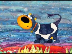 Cartoons Connie the cow - A curious Butterfly