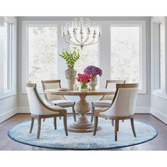 Looking for modern dining room ideas with furniture and decor? Explore our beautiful dining room ideas for interior design inspiration. Dining Room Design, Round Kitchen Table, Dining Chairs, Dining Room Rug, Pedestal Dining Table, Round Dining Room Table, Round Table Decor, Dining Room Furniture, Dinning Room Tables