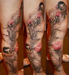 realistic nature tattoo by Laura Juan - Design of Tattoos
