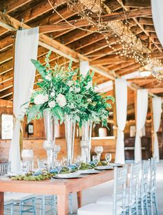 Red gate farm beautiful table display by joann s florist and carlson