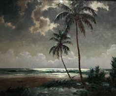 "Meet the Highwaymen, Florida's African-American landscape artists who defied the odds by overcoming the obstacles of the ""Jim Crow"" South, solidifying a chapter of artistic and cultural history. Vintage Florida, Old Florida, African American Artist, American Artists, Landscape Art, Landscape Paintings, Landscapes, Tropical Art, Gravure"