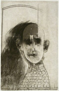 Robert Marx 'Disguise', etching and aquatint