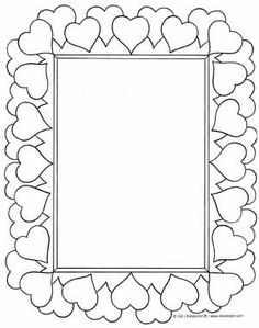 free picture frame coloring pages - photo#24