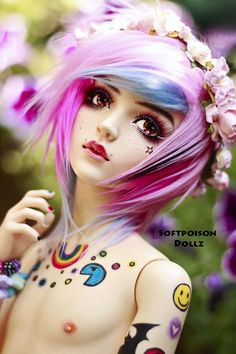 SoftPoisonDollz • Flower boy. Candy with some flowers :) Candy is a...