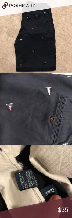 Men's polo by Ralph Lauren chino pant Gently used navy chino with flags Polo by Ralph Lauren Pants Chinos & Khakis