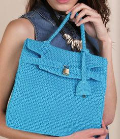 crochet  bag tribute to Kelly bag by Hermes