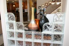 Glass Blocks, Wine Rack, Chicago, Storage, Furniture, Home Decor, Glass, Homemade Home Decor, Bottle Rack