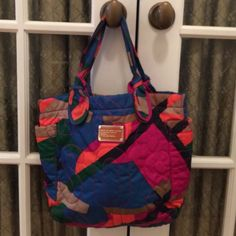 "MARC BY MARC JACOBS QUILTED TOTE BAG MARC BY MARC JACOBS COLORFUL QUILTED TOTE BAG. MEASURES 16"" by 11"" Marc by Marc Jacobs Bags Totes"
