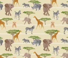 African safari fabric by revista on Spoonflower - custom fabric
