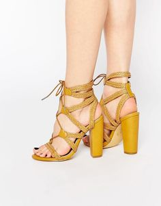 Image 1 of Missguided Plaited Block Heeled Sandals