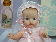 VOGUE Ginnette Painted Eye Doll 1956 CUTIE w/BOX CUTIE