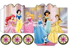 Disney Princess: Precious Princess Carriage Shaped Free Printable Box.