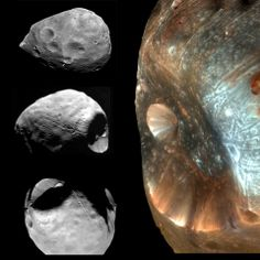 Amazing pictures of Phobos - one of the coolest moons in our solar system and one of two belonging to Mars.