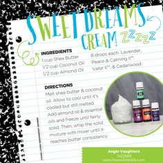 Essential Oils for Kids - Make a relaxing rub for your kids to use on them before bed!  Lavender, Peace & Calming, Valor, & Cedarwood in a base of Shea, Coconut, and Almond oils is all you need.  :)