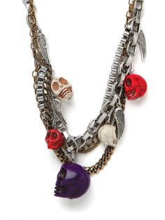 We're all obsessed with our Skull Charm Strands Necklace.  (Makes us think of @CheetahisNB!)