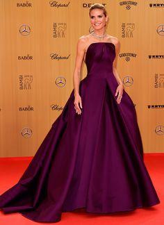 Heidi Klum in a Zac Posen ball gown   November 13, 2015