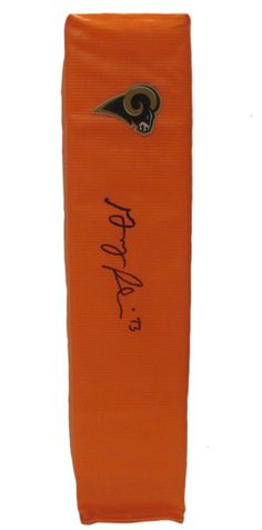 Greg Robinson Autographed Los Angeles Rams Full Size Football End Zone Touchdown Pylon. This is a brand-new custom Greg Robinson signed Los Angeles Rams full sizefootball end zone pylon. This pylon measures 4inches (Width) X 4inches (Length) X 18inches (Height). Greg signed the pylonin black sharpie.Check out the photo of Greg signing for us. ** Proof photo is included for free with purchase. Please click on images to enlarge. Please browse our websitefor additional NFL & NCAA…