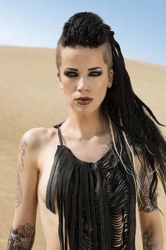 Tribal Desert Dweller Native Bohemian Warrior Goddess Fusion Burning Man Leather Fringe Breastplate Bib Necklace on Etsy, $89.00
