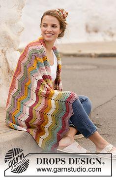 Ravelry: Catch the Rainbow pattern by DROPS design Chevron Crochet, Rainbow Crochet, Crochet Baby, Free Crochet, Knit Crochet, Knit Cowl, Hand Crochet, Knitting Patterns Free, Free Knitting