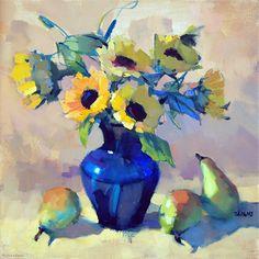 Sunny Pears by Trisha Adams Oil ~ 20 x 20