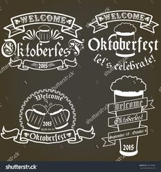 Vector Set Of Oktoberfest Labels, Design Elements, Emblems And Badges. Isolated…