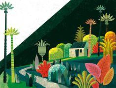 Illustration from 'Contes d'Haïti' by Mimi Barthélémy, illustrated by Gwen Karaval.