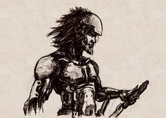 My drawing from Yoji Shinkawa's Metal Gear Art Studio website