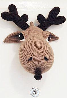 Pepika - Crochet Taxidermy - Hogar the Moose