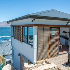 A perfect beach house in the quiant seaside suburb Kalk Bay with views to die for! #kalkbay #seasidesuburb #capetown #southafrica