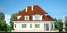 Projekt domu Rezydencja w Myślenicach 2 - ARCHON+ Beautiful House Plans, Modern House Plans, Beautiful Homes, Bungalow House Design, Cottage Homes, Minimalist Home, Home Fashion, Mansions, House Styles