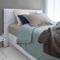 Linge de lit chanvre lavé Helm AMPM via Nat et nature Nat Et Nature, Decoration, Bedroom, Furniture, Home Decor, Hemp, Pastel Colors, Bedding, Bed Drapes