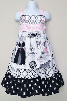 Apron Knot Dress Made With Alexander by ThisNThatByNicolette, Love the color scheme, but not the print of this dress.