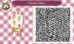 AC QR Code: Floral Vines Pattern