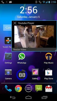 Floating Youtube te permite ver los vídeos de Youtube en tu Android mediante ventanas flotantes