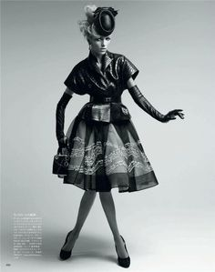 Anja Rubik by Patrick Demarchelier for Vogue Japan May 2012