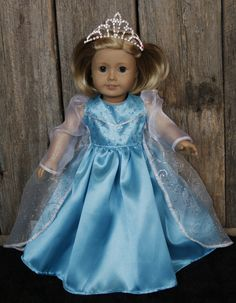 Frozen Elsa 18 in. American Girl Doll Dress by DollBabyDesigns1, $26.00