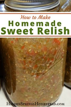 Excellent Toddler Shower Centerpiece Tips Easy Homemade Sweet Relish. You Love This Easy Way Of Home Canning Homemade Sweet Relish. Speedy, Easy And Gluten Free. Sweet Relish Is Great For Dinners And Your Family Will Love It. Home Canning Recipes, Cooking Recipes, Pressure Canning Recipes, Healthy Recipes, Easy Canning, Canning Tips, Pickle Relish, Relish Sauce, Homemade Sweets