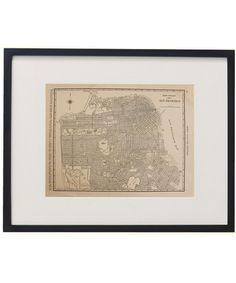 Vintage San Francisco Framed City Map via High Street Market