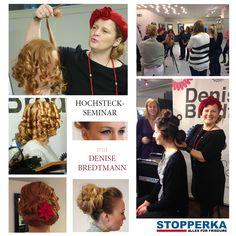 Denise Bredtmann im Seminar und Workshop heute bei uns. Hier ein paar Eindrücke ... Verschiedene Hochsteck-Trends wurden inspirierend an Modellen erarbeitet und anschaulich präsentiert - mit wunderschönen Stylings, Haarfarben und Make-ups.  Friseurbedarf Saloneinrichtung Seminare Events Haare hair and cosmetics Kosmetikbedarf