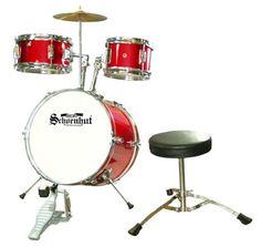 Schoenhut C1020  5 Piece Drum Set Red * AMAZON Great Sale Childrens Drum Set, Kids Drum Set, Junior Drum Set, Drum Lessons For Kids, Drum Chair, Drum Table, Drum Pedal, Musical Toys, Snare Drum