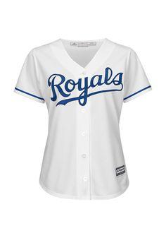 KC Royals Royals Womens White Cool Base Baseball Jersey
