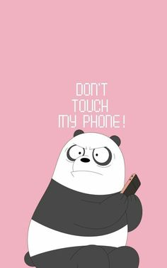don't touch my phone foundonweheartit iphonebackground phonebackground iphonewal… – funny wallpapers backgrounds Cute Panda Wallpaper, Bear Wallpaper, Cute Patterns Wallpaper, Locked Wallpaper, Kawaii Wallpaper, Lock Screen Wallpaper Iphone, Trendy Wallpaper, Wallpaper Ideas, Lock Screen Backgrounds