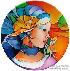 Art by Orestes Bouzon Pottery Painting, Ceramic Painting, Silk Painting, Round Canvas, Plate Art, Indian Art, African Art, Folk Art, Modern Art