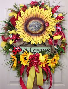 Spring / Summer Mesh Wreath on Etsy, $130.00