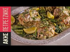Greek Lamb fricassee by Greek chef Akis Petretzikis. A unique, authentic, traditional Greek dish which has a delicious egg lemon sauce, tender lamb and lettuce. Sweets Recipes, Dinner Recipes, Kitchen Recipes, Cooking Recipes, Good Food, Yummy Food, Greek Cooking, Greek Dishes, Greek Recipes